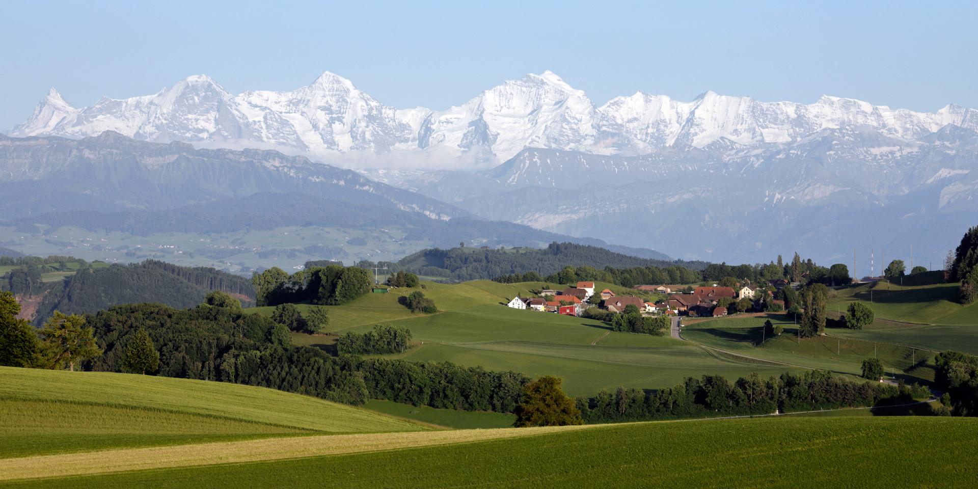 Aussicht Eiger, Mönch, Jungfrau